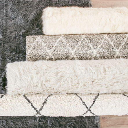 Rugs - Assorted rugs in various sizes, materials and styles