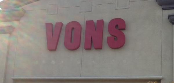 Vons Store Front Picture at 311 W Los Feliz Blvd in Glendale CA