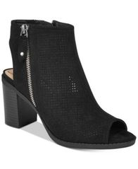 Image of American Rag Chasity Perforated Block Heel Shooties, Created for Macy's