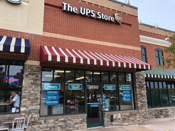 Exterior storefront image of The UPS Store #5596 in Wake Forest, NC