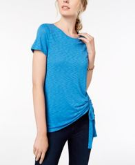 Image of I.N.C. Ruched Crew-Neck T-Shirt, Created for Macy's