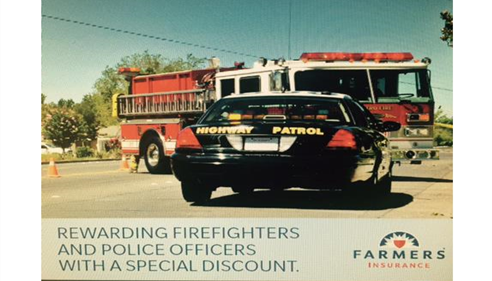 Did you know firefighters and police officers get ²discounts on insurance?