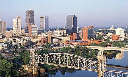 A view of the skyline of Little Rock