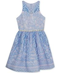 Image of Rare Editions Embellished Lace Dress, Big Girls