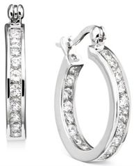 Image of Giani Bernini Cubic Zirconia Inside Out Hoop Earrings in Sterling Silver, Created for Macy's