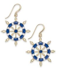 Image of Charter Club Gold-Tone Nautical Drop Earrings, Created for Macy's