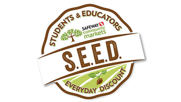Students and Educators Everyday Discount.  Image of a tree.  S.E.E.D.