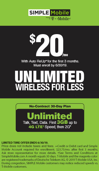 Unlimited wireless for less with SIMPLE Mobile