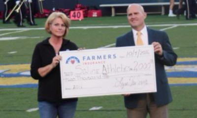 Big Check Donation to Saline High School Athletic Department