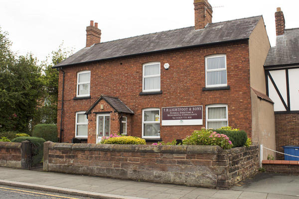 T H Lightfoot & Sons Funeral Directors in Tarporley.