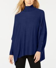Image of Alfani Turtleneck Poncho Sweater, Created for Macy's