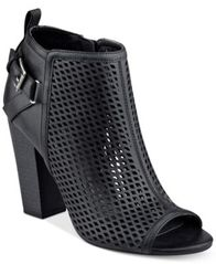 Image of G by GUESS Jerzy Peep-Toe Block-Heel Booties