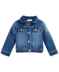 Image of First Impressions Baby Girls Denim Jacket, Created for Macy's