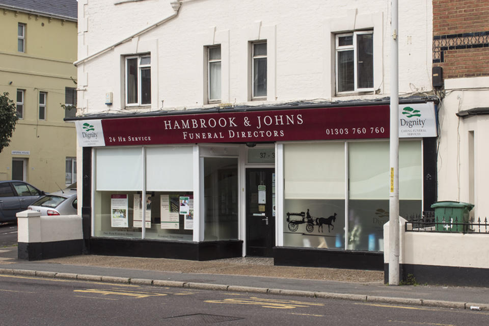 Hambrook & Johns Funeral Directors at Black Bull Road, Folkestone, Kent.