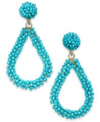 Image of I.N.C. Gold-Tone Beaded Teardrop Drop Earrings, Created for Macy's