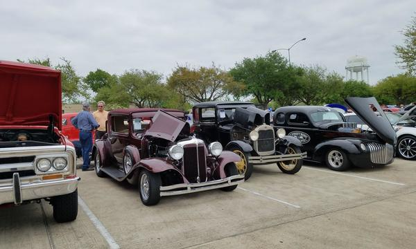 A lot of classic cars