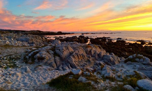 Sunset on Asilomar Beach
