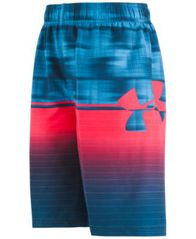 Image of Under Armour Big Boys Mixed-Print Volley Swim Trunks