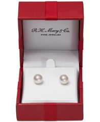 Image of Belle de Mer Cultured Freshwater Pearl Stud Earrings (7mm) in 14k Gold