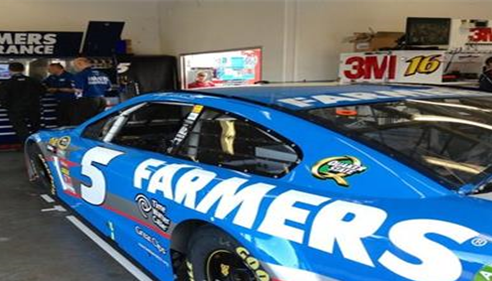 Kasey Kahne's car getting tuned up.