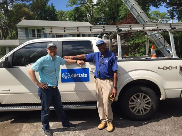 Matt Stark - Matt and Field Adjuster Rufus onsite at a claim inspection for hail damage
