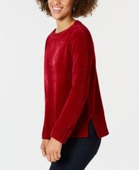 Image of Style & Co Chenille Sweater, Created for Macy's