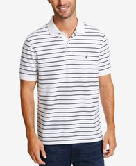 Image of Nautica Men's Classic Fit Performance Striped Deck Polo