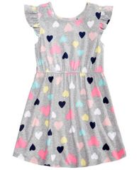 Image of Epic Threads Little Girls Printed Flutter-Sleeve Super-Soft Dress, Created for Macy's
