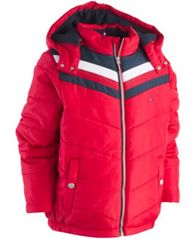 Image of Tommy Hilfiger Little Boys David Hooded Puffer Jacket