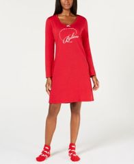 Image of Charter Club Sleepshirt with Socks, Created for Macy's