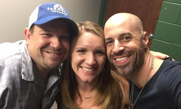Brannon East Agency with friend Chris Daughtry