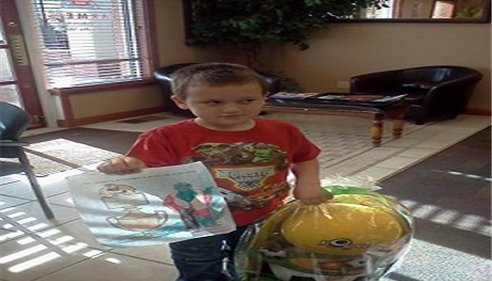 Winner of Home Show Easter Basket coloring contest!