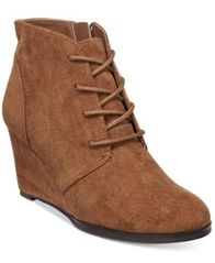 Image of American Rag Baylie Lace-Up Wedge Booties, Created for Macy's