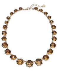 "Image of Charter Club Gold-Tone Stone Collar Necklace, 17"" + 2"" extender, Created for Macy's"