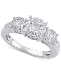 Image of Diamond Three Stone Engagement Ring (3/4 ct. t.w.) in 14k Gold, White Gold or Rose Gold