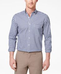 Image of Club Room Men's Stretch Gingham Shirt, Created for Macy's