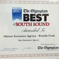 Ronelle-Funk-Allstate-Insurance-Yelm-WA-Olympian-Best-South-certificate-auto-home-life-car-commercial-business-homeowner-agent-agency