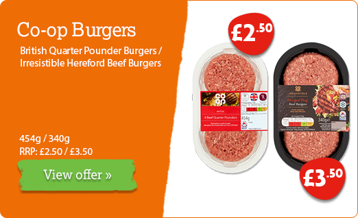 Co-op burger offer available until 16th June