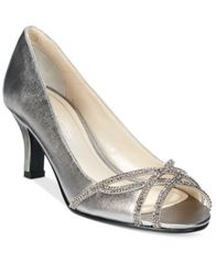 Image of Caparros Eliza Peep-Toe Evening Pumps