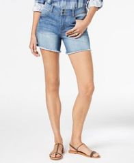 Image of Style & Co Frayed-Hem Denim Shorts, Created for Macy's