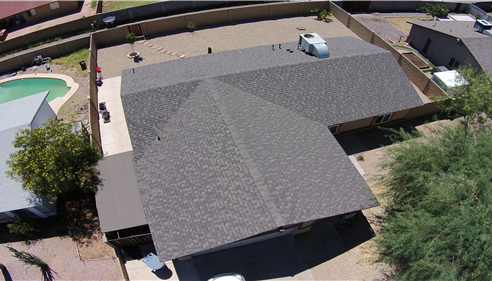 We do an Aerial View of the home. We offer this service for everyone.
