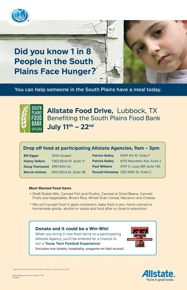 Doug Townsend - Food Drive for the South Plains Food Bank