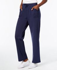 Image of Karen Scott French Terry Active Pants, Created for Macy's
