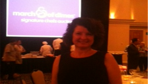 At the March of Dimes Charity Event.Seattle Sheraton