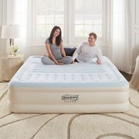 Image of Beautyrest Silver Queen Lumbar Supreme Air Mattress with Adjustable Lumbar Support and Built-in Pump