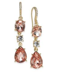 Image of Charter Club Crystal Triple Drop Earrings, Created for Macy's