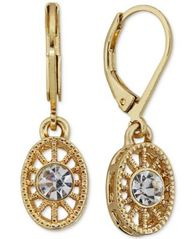 Image of 2028 Crystal Filigree Drop Earrings, a Macy's Exclusive Style