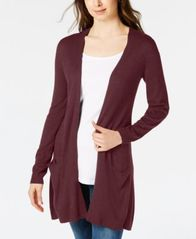 Image of Maison Jules Long Open-Front Jersey Cardigan, Created for Macy's