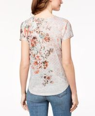 Image of Style & Co Printed T-Shirt, Created for Macy's