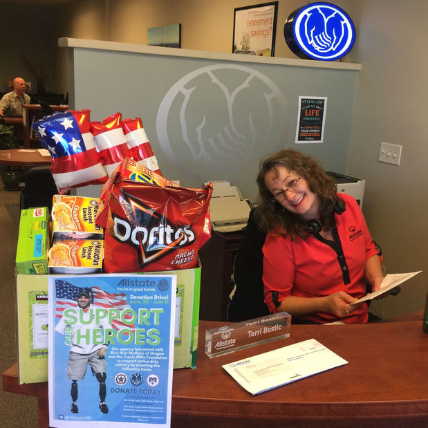 Robin Byrd - We Collected Supplies for Blue Star Mothers of Oregon!